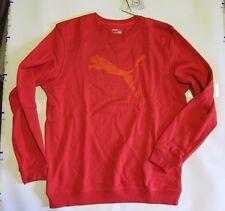 PUMA Crewneck dryCELL Sweatshirt Heather RED M Medium FAT CAT LOGO