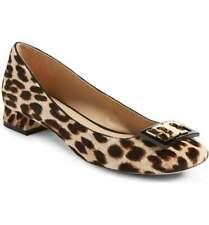 Tory Burch Gigi Leopard Calf Hair Leather 1 Inch Block Heel Pump Shoe – 8 NIB
