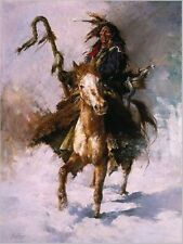 """Howard Terpning """"STAFF CARRIER""""  Native American Indian Limited Edition Print"""
