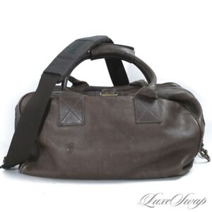 #1 MENSWEAR Marc Jacobs Made in Italy Khaki Truffle Leather Duffle Weekend Bag