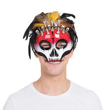 Voodoo Mask On Glasses Frame Halloween Fancy Dress Eye Mask Prop