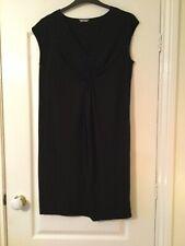 LADIES FAB BLACK TUNIC DAY/EVENING DRESS WITH RUFFLE & POCKETS M&S SIZE UK 12