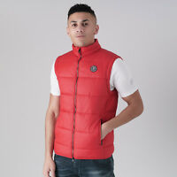 Mens Crosshatch Padded Quilted Gilet Jacket 'Awesleeve' -  Haute Red