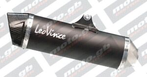 KYMCO XCITING 400i 2012-16 LEOVINCE NERO SLIP-ON EXHAUST *IN STOCK*FAST SHIP