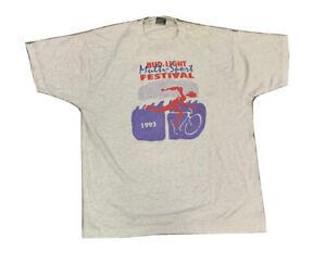 VTG 90's Bud Light Multi Sport Festival Single Stitch T Shirt 50/50 Size XL