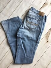Abercrombie & Fitch Skinny Boot W25 L31 Light Blue Destroyed Jeans Bx11