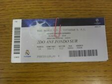 05/04/2011 BIGLIETTO: REAL Madrid V Tottenham Hotspur [UEFA CHAMPIONS LEAGUE] (Ligh