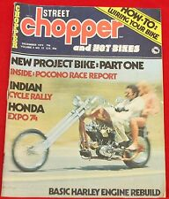 Vintage Street Chopper Magazine December 1973 Very Good Condition