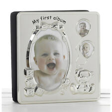New My First Photo Album Satin Silver Finish (4x6) 50040 Christening gift 17066