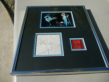 Jimmy Page Led Zeppelin 1973 Signed Cut Framed W Ticket & Photo PSA Certified
