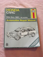 VINTAGE OLD CARS 1992 HAYNES AUTOMOTIVE REPAIR MANUAL HONDA CIVIC 1984-1991 BOOK