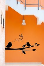 Wall Stickers Vinyl Decal Singing Bird Branch Tree Romantic Decor (z1830)