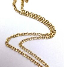 """18"""" Solid 10K Yellow Gold 1mm Rolo Chain Necklace 