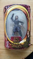 """NEW Lord of the Rings Two Towers Helm's Deep Aragorn 6.5""""w/Sword Slashing"""