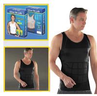 Hombre Reductor Body Entallado & Push Up Delineador Vientre Faja Ropa Interior