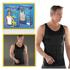 MENS SLIMMING BODY SLIM & LIFT TUMMY BELLY  SHAPER UNDERWEAR VEST COMPRESSION