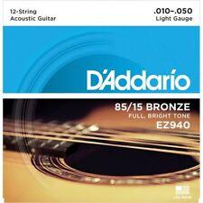 D'Addario EZ940 American Bronze Strings Light 12 String 10-50