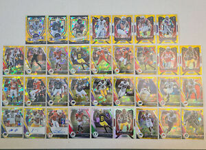 2020-21 Panini Prizm Draft LOT of 34 Gold Cracked Ice + Silver Cards Rookie Auto