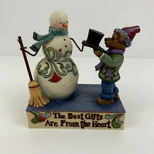 Boyds Bears/Jim Shore 2011 Timmy T. Givengifts with Mr. Flakesworth Snowman&Bear