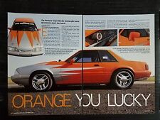 Tim Pauley 1988 Ford Mustang LX - 5 Page Article - Free Shipping