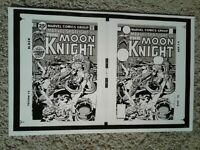 Kirby MARVEL SPOTLIGHT 29 - PRODUCTION COVER PIECE - MOON KNIGHT DOUBLE COVER