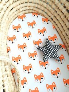 Moses Basket Fitted Sheet. Pure cotton