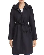 Burberry Kibworth Hooded Single Breasted Trench Coat navy 2 US 4 UK 36 Eur $895