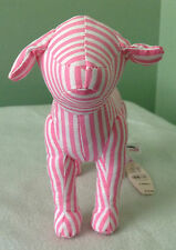 VICTORIA'S SECRET PINK  DOG PINK AND WHITE STRIPES 2004 RARE NWT