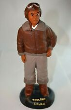 Tuskegee Airman Wwii African American Polyresin Sculpture Figurine 9 x 3.5 Army