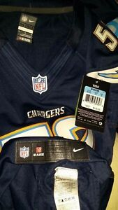 MANTI TE'O #50 LOS ANGELES CHARGERS NIKE AUTHENTIC ON FIELD WOMEN JERSEY $145+ M