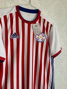 Paraguay 2018 2019 Home Shirt Football Jersey Soccer Adidas Size M BQ4501 Men