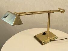 70er Hillebrand Lampe De Bureau Bureau Luminaire Lampe de chevet laiton massif