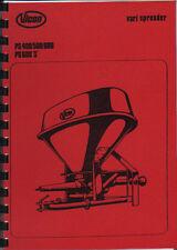 Vicon Vari Spreader PS 400/500/600 & PS 600 'S' Operating Instruction Book
