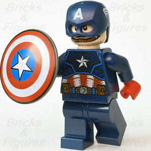 New Marvel Super Heroes LEGO® Captain America Avengers Suit Minifigure 76168