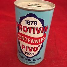 Protivin Pivo, Centennial 1978 Iowa,  Empty Beer Can, pop tab, 12 oz