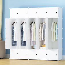 New listing Diy Clothes Cabinet Portable Wardrobe Hanging Armoire Space Ideal Storage Cube