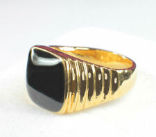 Onyx Yellow Gold Filled Fashion Rings