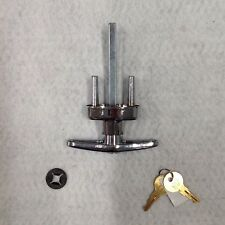Keyed T Handle Set #3020 Overhead Home Storage Shed Garage Door Hardware Lock