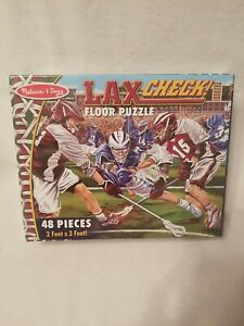 Melissa and Doug Floor Puzzle, Lax Check Lacrosse, 2'x3' New Sealed
