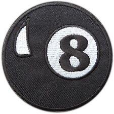 Eight 8 Ball Billiards Pool Snooker Tennis Golf Tattoo Biker Iron-On Patch #0393