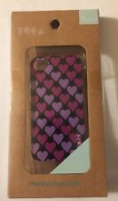 For Apple iPhone 4/4S Hot & Lt Pink Hearts Hard Plastic Case Cover Phone