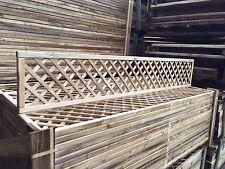 6x1 Elite Alderley Diamond Trellis 183x30 Garden Lattice Fence Topper