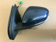 11-13 Volvo S60 Left Driver Side View Mirror W/ BLIS 498 Blue 31385180