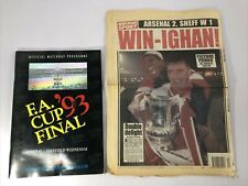 More details for 1993 fa cup final matchday programme - arsenal v sheff wed - excellent condition