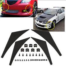 Universal Car Front Bumper Lip Splitter Body Spoiler Canards Refit Kits Black 0c