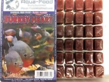 Premium Frozen Fish Food 5 x100g packs- Turkey Heart + Vitamins-FREE P&P