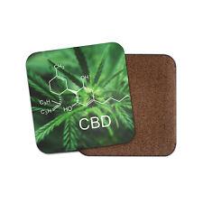 Cool Macro CBD Coaster - Cannabis Flower Marijuana Weed Aesthetic Gift #16624