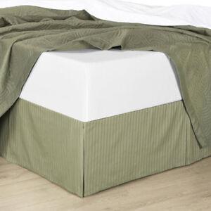 Striped Split Corner Combed Cotton Bed Skirt