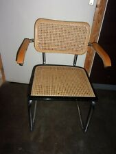 fauteuil chaise cannee  style marcel breuer italy