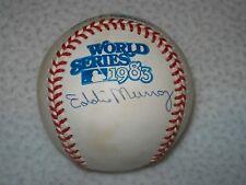 EDDIE MURRAY AUTOGRAPHED 1983 WORLD SERIES MLB BASEBALL BALTIMORE ORIOLES PSA